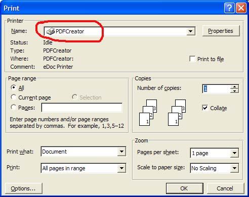 imprimante virtuelle pdf creator gratuit