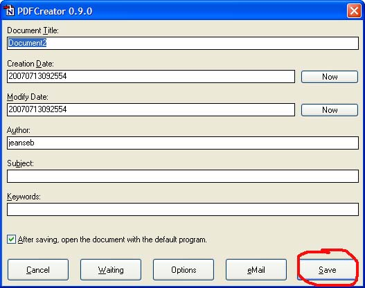 imprimante virtuelle pdf creator mac
